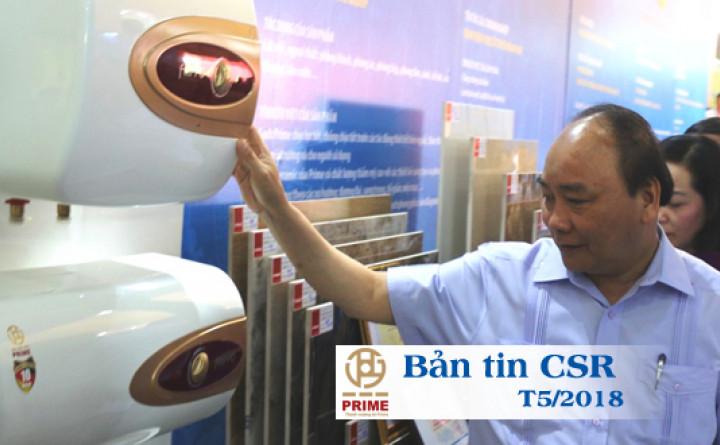 [Bản tin CSR T5/2018] Thủ tướng Nguyễn Xuân Phúc gặp gỡ người lao động Prime Group