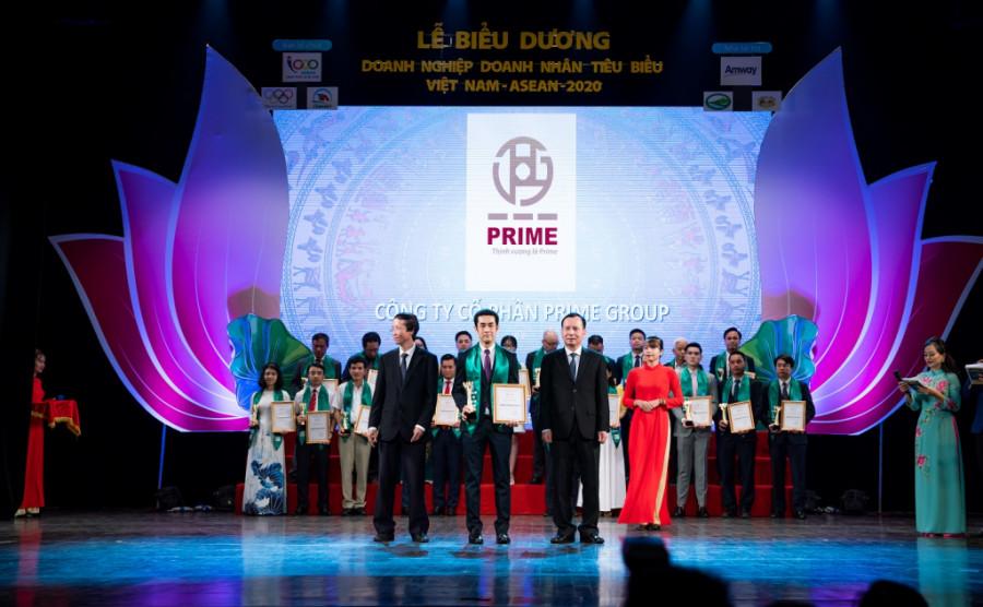 Prime Group nhận giải thưởng 'Doanh nghiệp tiêu biểu Việt Nam – ASEAN 2020'