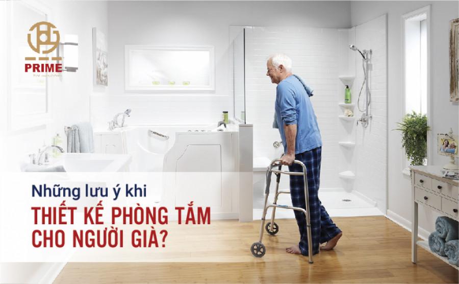 Những lưu ý khi thiết kế phòng tắm cho người già