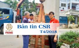 [Bản tin CSR T4/2018] Prime Group tài trợ gạch lát nền cho hộ nghèo tại Vĩnh Yên - Vĩnh Phúc